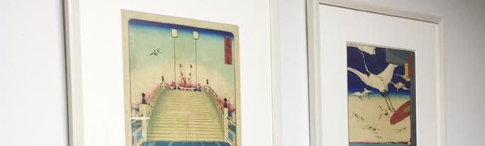 税理士法人総和様の浮世絵レンタル絵画を交換しました