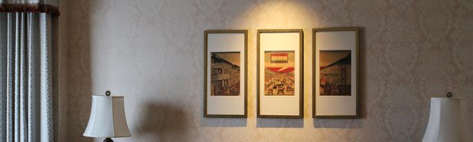 ホテル椿山荘東京様28客室に浮世絵を納品いたしました
