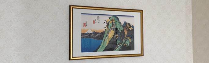 ホテル椿山荘東京様33客室に浮世絵を納品いたしました。