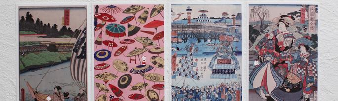 めぐろ観光まちづくり協会様で、浮世絵にキャラクター入れたポストカードをご採用いただきました。